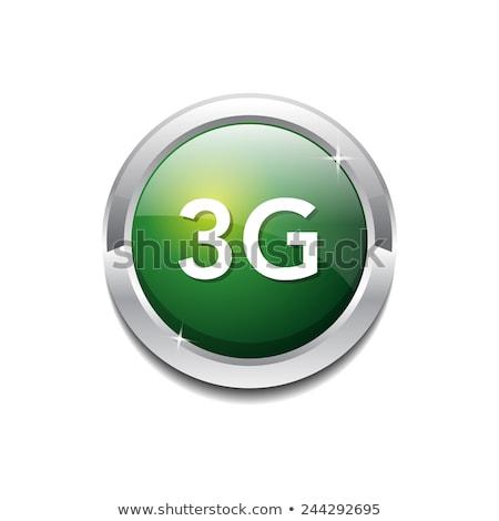 4g felirat körkörös zöld vektor gomb Stock fotó © rizwanali3d