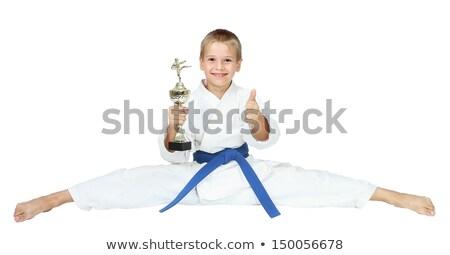 Sportoló kimonó zsinór díj kéz ujj Stock fotó © Andreyfire