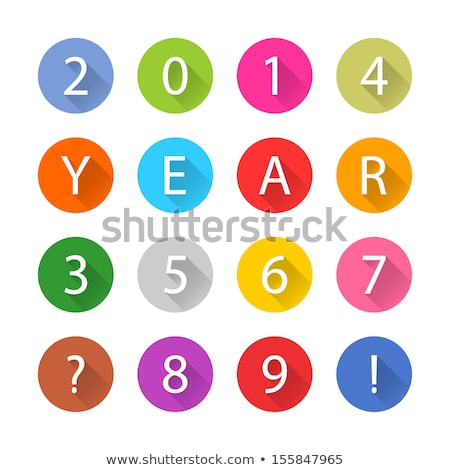 8 number yellow vector icon button stock photo © rizwanali3d