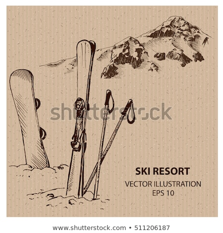 Snowboard. Hand Drawn Illustration Stock photo © pashabo