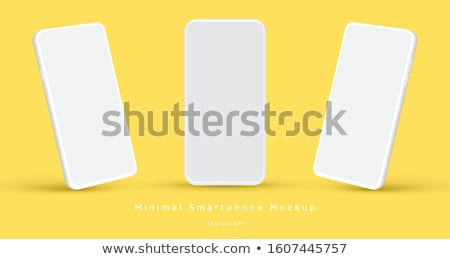 Stockfoto: Mobiele · telefoon · eenvoudige · icon · witte · teken · contact