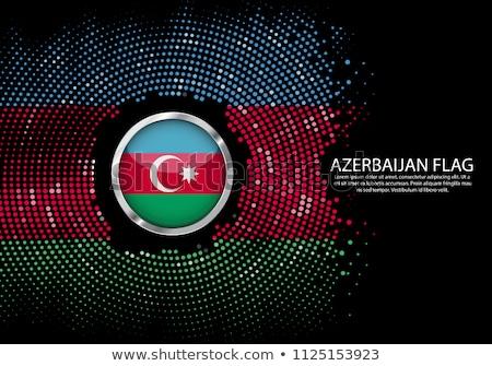 Azerbaiyán · bandera · mapa · país · forma - foto stock © tony4urban