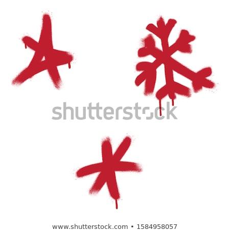 граффити звездой спрей белый красный Сток-фото © Melvin07