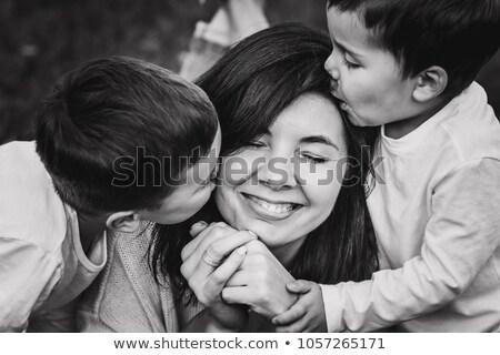 anya · gyermek · hazugságok · ősz · fű - stock fotó © Paha_L