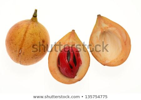 Dojrzały kolorowy gałka muszkatołowa owoców widoku charakter Zdjęcia stock © tang90246