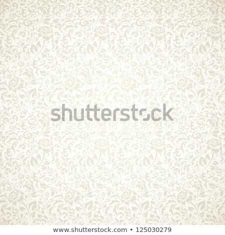 白 ヴィンテージ フローラル フレーム ファッション デザイン ストックフォト © liliwhite