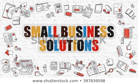 Small Business in Multicolor. Doodle Design. Stock photo © tashatuvango
