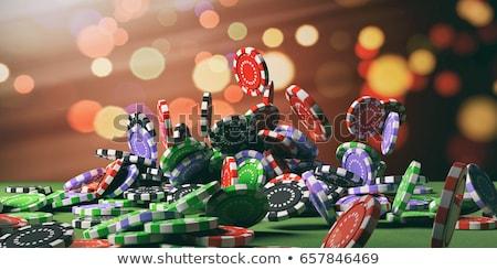 Pôquer cartões mão humana numeroso branco Foto stock © Novic