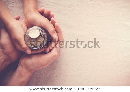 Befektetés gyerekek korai befektető szimbólum pénzügyi tervezés Stock fotó © Lightsource