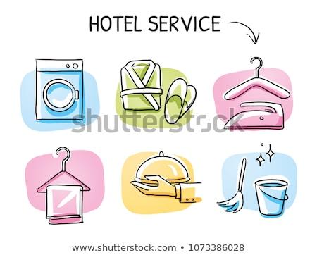 Takarítás szolgáltatások firka ikon gyűjtemény kézzel rajzolt vektor Stock fotó © netkov1