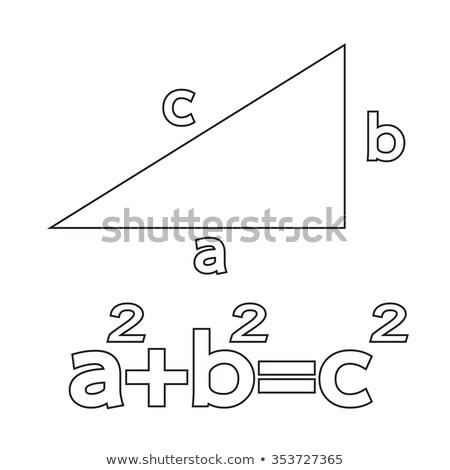 pythagoras theorem icon illustration art stock photo © kiddaikiddee
