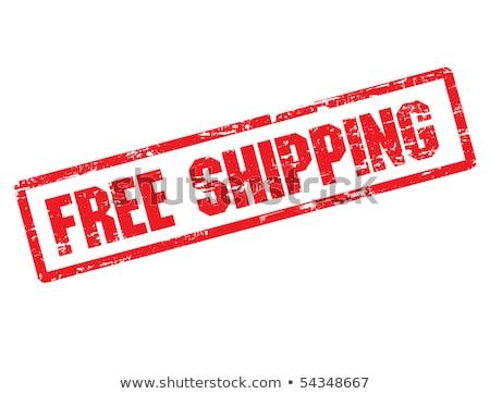 Grunge pecsét szöveg ingyenes szállítás illusztráció szimbólum Stock fotó © kiddaikiddee