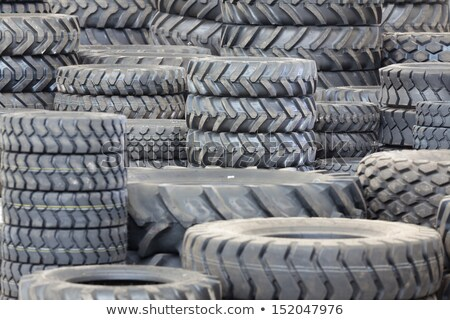 Big machines tires stack background.  Stock photo © papa1266