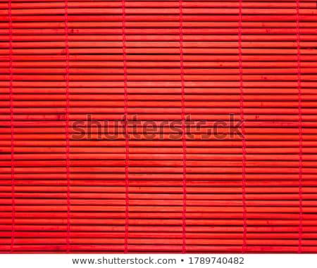 sushi · bambu · balık · plaka - stok fotoğraf © olykaynen
