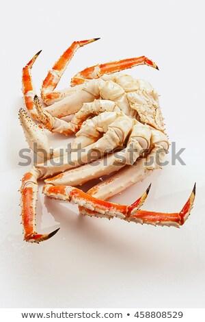 Kırmızı kral yengeç beyaz deniz bacaklar Stok fotoğraf © nasonov