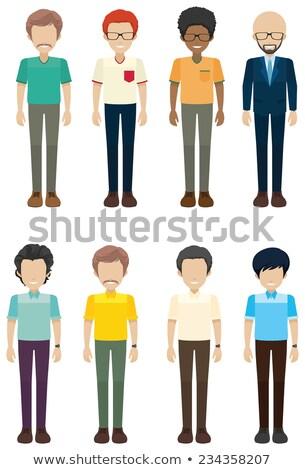 Kawalerowie twarze biały uśmiech twarz projektu Zdjęcia stock © bluering
