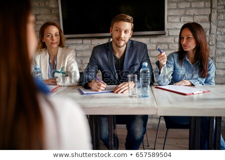 Businessman interviewing a potential job candidate Stock photo © ozgur