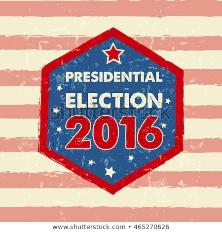 Usa Presidential Election 2016 In Hexagon Frame Banner Foto stock © marinini