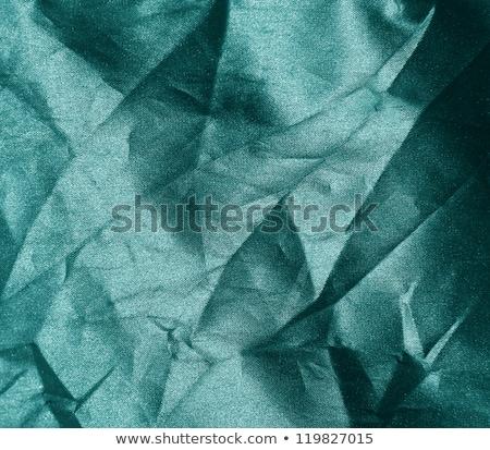 green crumpled silk fabric stock photo © mikko