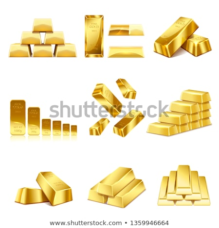 Golden Brick Stock photo © Bigalbaloo