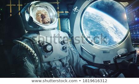 Mutlu astronot örnek beyaz arka plan erkek Stok fotoğraf © bluering