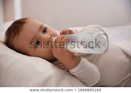 Baby bottle and milk at night Stock photo © Ustofre9