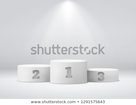 Podium złoty srebrny brąz gwiazdki Zdjęcia stock © pakete