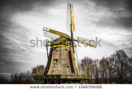 Stock photo: windmill in autumn