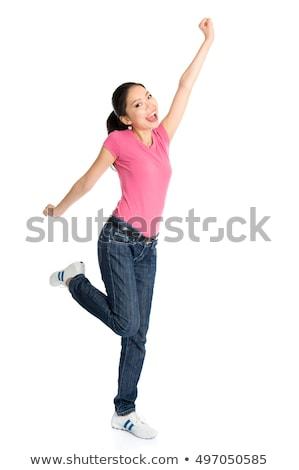 egészalakos · ázsiai · női · diák · boldog · érettségi - stock fotó © szefei