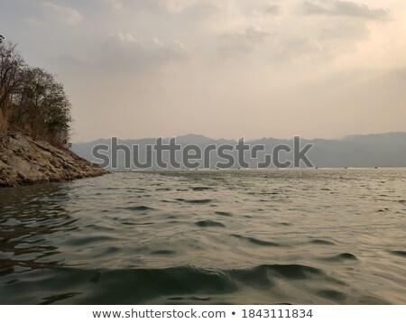 закат зеркало морем тень время Сток-фото © bank215