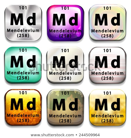 a periodic table button showing the mendelevium stock photo © bluering