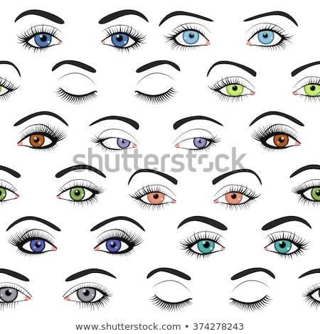 Feminino olhos padrão saúde glamour projeto Foto stock © Said
