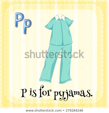 P betű pizsama gyerekek gyermek háttér művészet Stock fotó © bluering