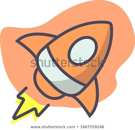desenho · animado · míssil · projeto · arte · retro · engraçado - foto stock © vectorworks51