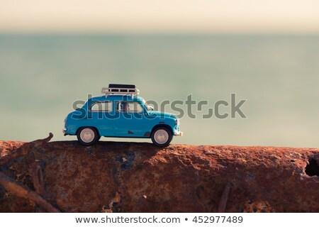 Klasszikus játék autó tenger utazás út Stock fotó © Kirill_M