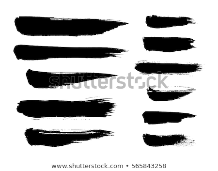 Vector brush stroke paint abstract on black background set hand  Stock photo © cosveta