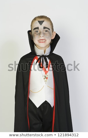 Boy in vampire outfit Stock photo © bluering