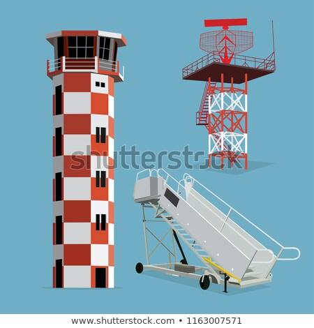 Aeroporto radar torre cielo blu comunicazione Foto d'archivio © njnightsky