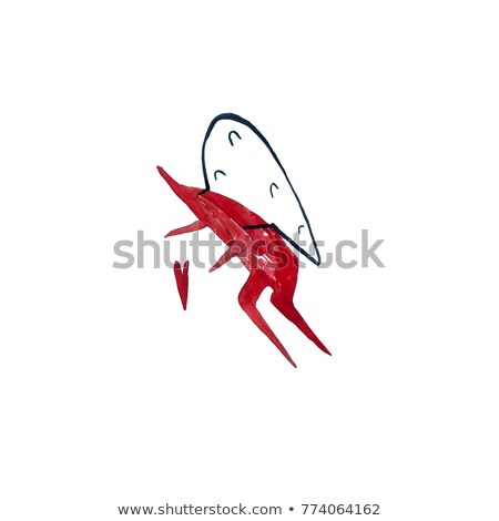 Stick figure as cupid with red heart and bow Stock photo © Ustofre9