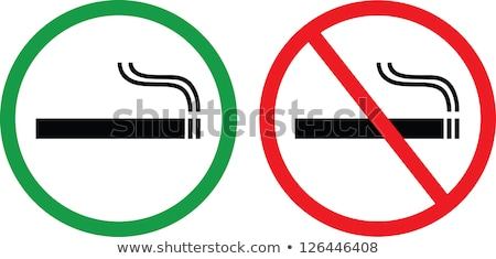 No smoking area label. EPS 10 Stock photo © beholdereye