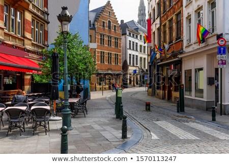 Brussel · zonsondergang · historisch · centrum · mooie - stockfoto © artjazz