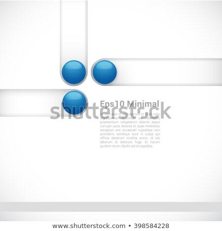 Kreatív minimális brosúra prospektus elrendezés sablon Stock fotó © SArts