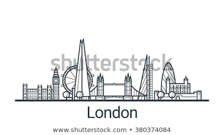 London Big Ben linear Illustration dünne line Stock foto © 5xinc