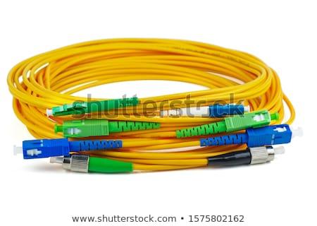 волокно оптический кабеля 3d иллюстрации зеленый Сток-фото © olivier_le_moal