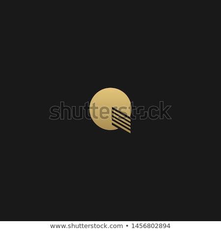 Elegante logotipo monograma estilo projeto Foto stock © SArts
