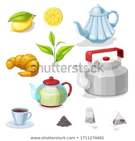 Teapot and teacup Stock photo © marimorena