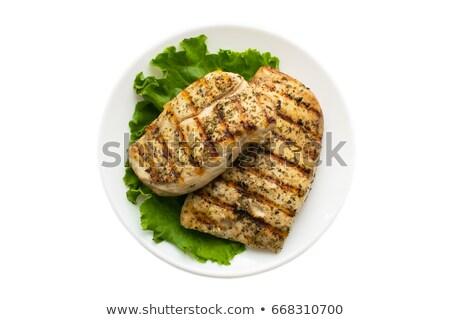 Pieczony kurczak tablicy ilustracja tle sztuki obiedzie Zdjęcia stock © bluering