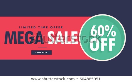 mega sale advertising voucher and banner design with offer detai Stock photo © SArts