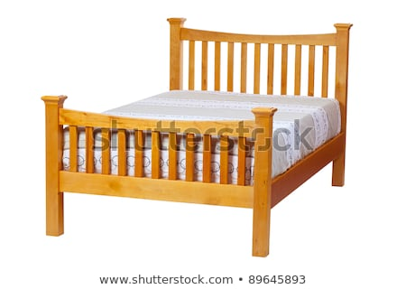 Double bed isolated over white Stock photo © Valeriy