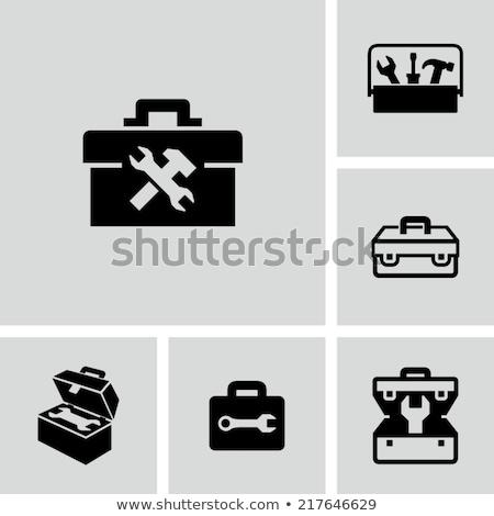 Zwarte witte slot tool container Stockfoto © dezign56